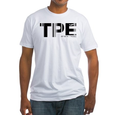 Taipei Airport Code Taiwan TPE Fitted T-Shirt