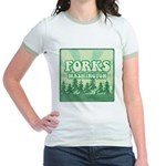 Twilight Forks Jr. Ringer T-Shirt