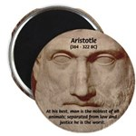 "Greek Philosophers: Aristotle 2.25"" Magnet (100 pa"