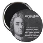 "Irish Idealist: George Berkeley 2.25"" Magnet (10 p"