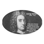 Irish Idealist: George Berkeley Oval Sticker