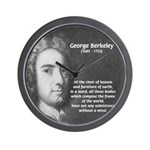 Irish Idealist: George Berkeley Wall Clock