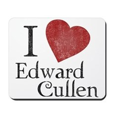 I Love Edward Cullen Mousepad