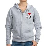I Heart Obama Biden Women's Zip Hoodie