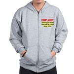 Compliance Turn Down Zip Hoodie
