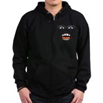 Shocked Cartoon Face Zip Hoodie (dark)