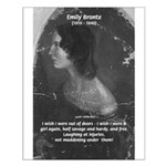 Novelist: Emily Bronte Small Poster