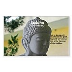 Eastern Philosophy: Buddha Rectangle Sticker