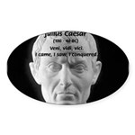 Great Roman: Julius Caesar Oval Sticker