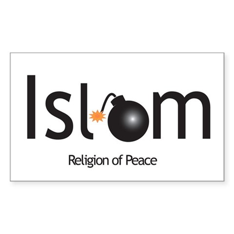 Islam Religion of peace Sticker (Rectangle)