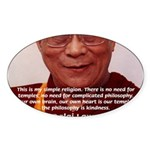 His Holiness the Dalai Lama Oval Sticker