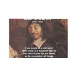 Philosopher: Rene Descartes Rectangle Magnet (10 p