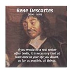 Philosopher: Rene Descartes Tile Coaster