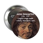 Philosopher Rene Descartes Button