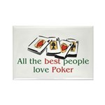 Poker Rectangle Magnet (10 pack)