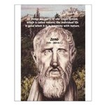 Stoic Philosophy: Zeno Small Poster