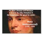 Feminist Mary Wollstonecraft Rectangle Sticker