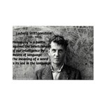 Ludwig Wittgenstein Rectangle Magnet