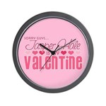 Jasper Twilight Valentine Wall Clock