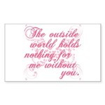 Twilight Valentine Rectangle Sticker 10 pk)