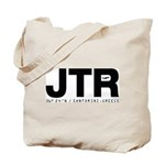 Santorini Airport Greece JTR Black Des. Tote Bag