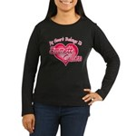 Emmett Cullen Heart Women's Long Sleeve Dark T-Shi