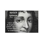Philosopher Baruch Spinoza Rectangle Magnet (10 pa