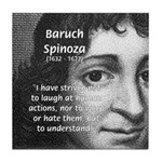 Philosopher Baruch Spinoza Tile Coaster