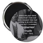 """Lincoln with Sojourner Truth 2.25"""" Magnet (10 pack"""