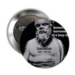 "Socrates: Wisdom from Leisure 2.25"" Button (100 pa"