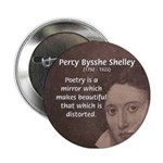 Romantic Poet Percy Shelley Button