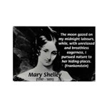 Mary Shelley Frankenstein Rectangle Magnet