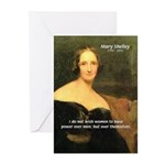 Novelist Mary Shelley Greeting Cards (Pk of 10