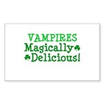 Vampires Magically Delicious Rectangle Sticker 50