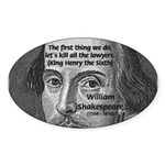 William Shakespeare Oval Sticker