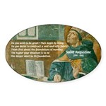 Saint Augustine of Hippo Oval Sticker