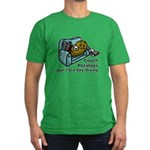 Couch Potato Sky Diving Men's Fitted T-Shirt (dark