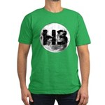 H3 On The Moon Men's Fitted T-Shirt (dark)