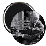 """Philosophy Bertrand Russell 2.25"""" Magnet (10 pack)"""