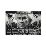 Bertrand Russell Philosophy Rectangle Magnet (100