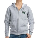 Irish Shamrock Celtic Cross Women's Zip Hoodie