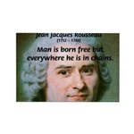 Philosopher Rousseau Rectangle Magnet (100 pack)
