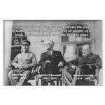 2nd World War: Stalin Roosevelt Churchill Large Po