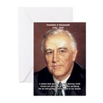 American President FDR Greeting Cards (Package of