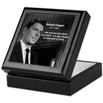 President Ronald Reagan Keepsake Box