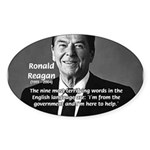 American President Reagan Oval Sticker