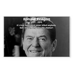 Humour of Ronald Reagan Rectangle Sticker