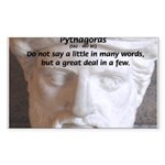 Greek Mathematician Pythagoras Sticker (Rectangula