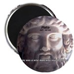 "Plato: Humour Beer Wisdom 2.25"" Magnet (100 pack)"