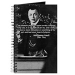 Wolfgang Pauli: Principles in Physics Journal